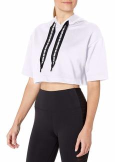 Alo Yoga Women's Air Land Ocean Short Sleeve Crop Hoodie  Extra Small