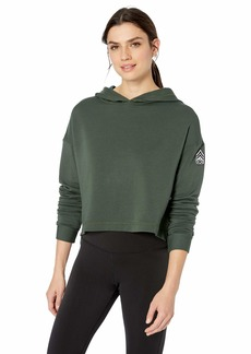 Alo Yoga Women's Cozy Cropped Hoodie-Graphic  L