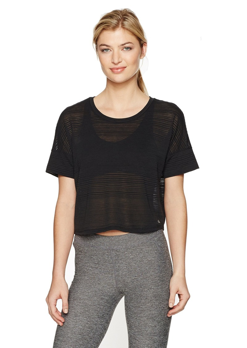 Alo Yoga Women's in-The City Short Sleeve Top  M