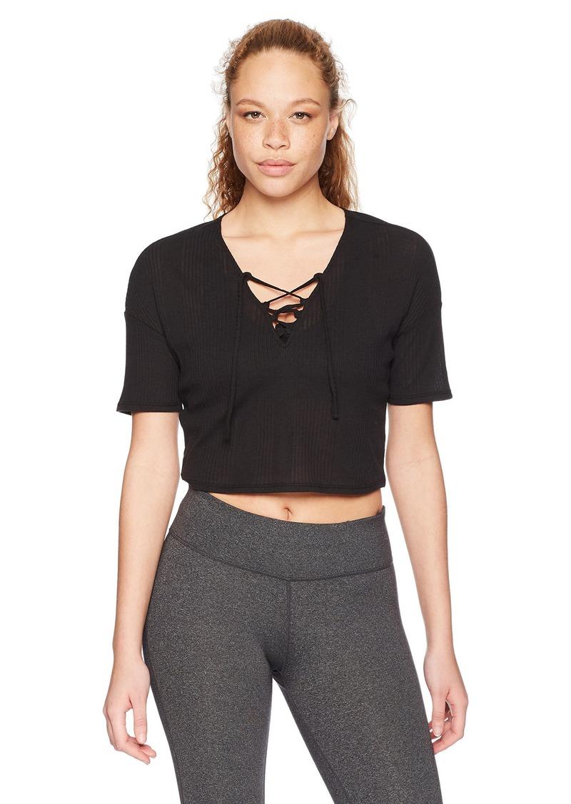 Alo Yoga Women's Interlace Short Sleeve Top  XS