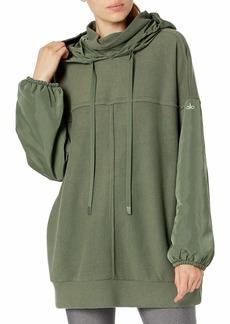 Alo Yoga Women's Mixed Media Pullover Transitional Jacket   US