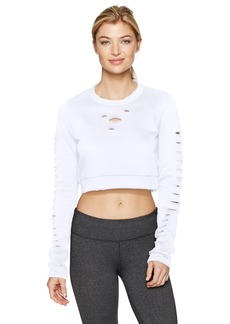 Alo Yoga Women's Ripped Warrior Long Sleeve  L