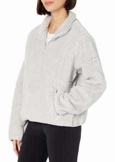 Alo Yoga Women's Shanti Half Zip Sherpa Jacket   US