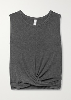 Alo Yoga Cover Cropped Draped Stretch-jersey Tank