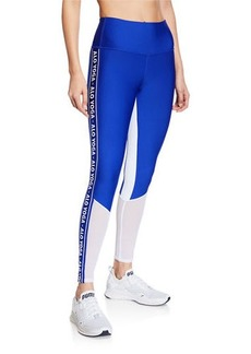 Alo Yoga High Waist Logo Colorblock Trainer Leggings