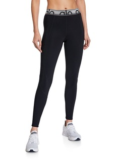 Alo Yoga High-Waist Velocity Logo Active Leggings