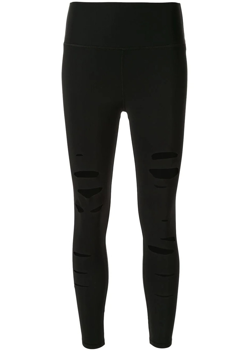 Alo Yoga high-waisted ripped leggings