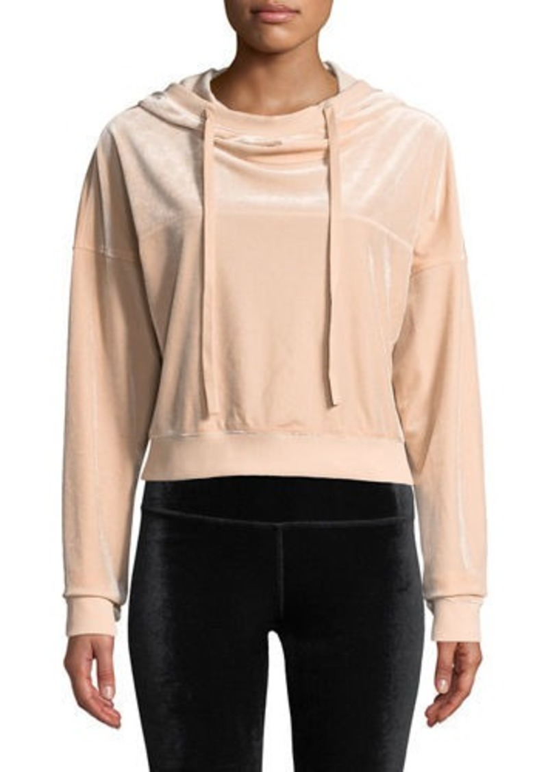 Alo Yoga Layer Velour Long-Sleeve Hooded Pullover Top