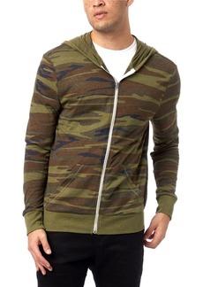 Alternative Apparel Men's Basic Printed Zip Hoodie