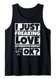 Alternative Apparel Alternative Energy Lover Funny Humor Gift Tank Top