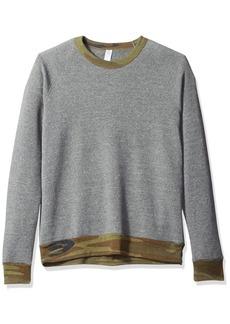 Alternative Apparel Alternative Men's Eco Fleece Champ Sweater Grey/Camo Rib XL