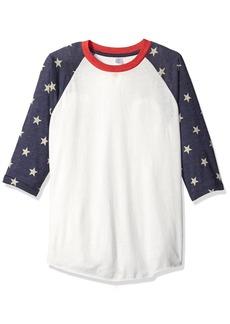 Alternative Apparel Alternative Men's Baseball Printed Eco-Jersey T-Shirt