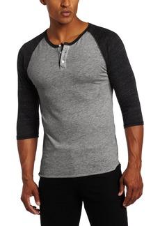 Alternative Apparel Alternative Men's Raglan 3/4 Sleeve Henley Shirt