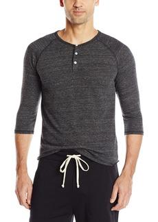 Alternative Apparel Alternative Men's Raglan 3/4 Sleeve Henley Shirt eco Black