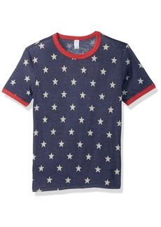 Alternative Apparel Alternative Men's Jersey Printed Ringer Youth T-Shirt Stars/eco True red