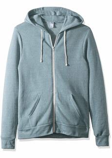 Alternative Apparel Alternative Men's Rocky Eco-Fleece Zip Hoodie EcTruSmokeBlue Extra Large
