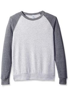 Alternative Apparel Alternative Men's The Champ Colorblock Sweater Oatmeal/Eco Grey XL