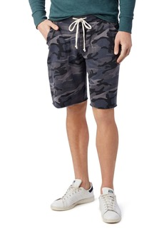 Alternative Apparel ALTERNATIVE Victory Camouflage-Print Fleece Shorts