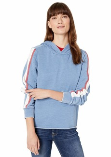 Alternative Apparel Alternative Women's Americana Side Stripe Burnout French Terry Hoodie  Extra Small