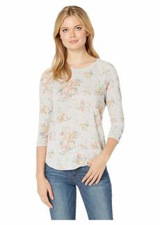 Alternative Apparel Alternative Women's Baseball Printed eco-Jersey t-Shirt Light Grey Country Floral