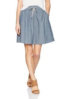 Alternative Apparel Alternative Women's Chambray Skater Skirt Blue XS