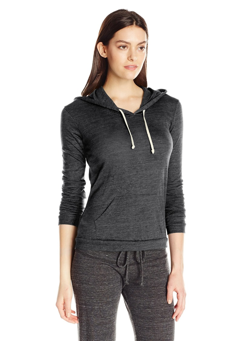 Alternative Apparel Alternative Women's Eco Jersey Classic Pullover Hoodie Black