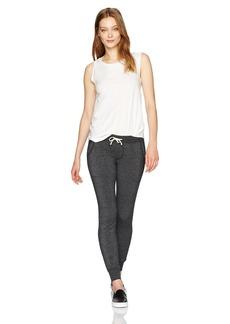 Alternative Apparel Alternative Women's Fleece Jogger Pants + Cap Sleeve Crew Neck Tee Set  XLarge