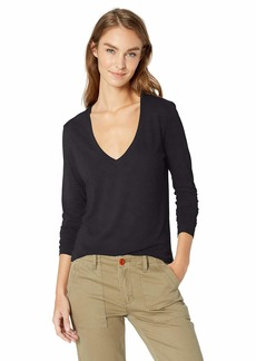 Alternative Apparel Alternative Women's Long Sleeve Slinky V-Neck  edium