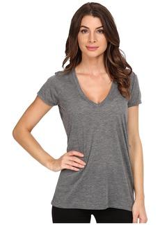Alternative Apparel Alternative Women's Melange Burnout Jersey Slinky V-Neck Top ash Heather Extra Large