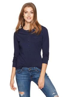 Alternative Apparel Alternative Women's Organic Pima Button Up Henley Shirt  XSmall