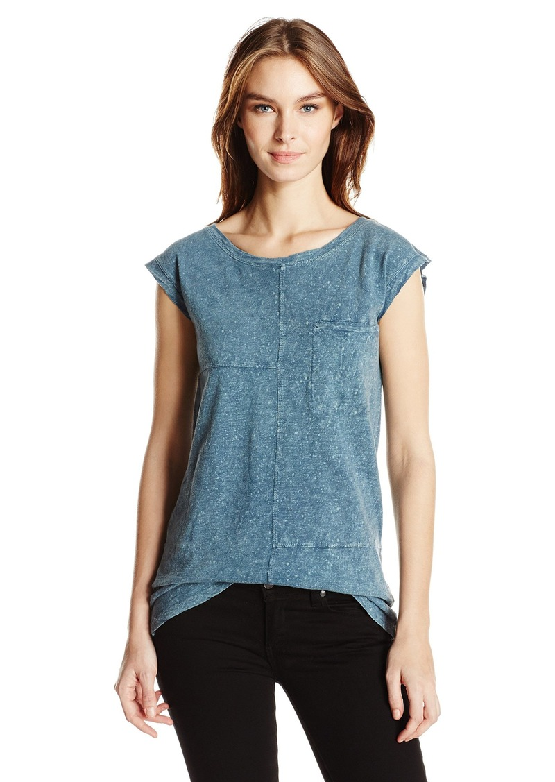 Alternative Apparel Alternative Women's Slub Withseasalt Wash La Cote Pocket Tank  XS