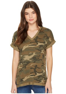 Alternative Apparel Burnout French Terry Co-Ed Deep V Tee