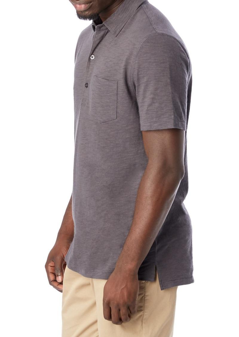 Alternative Mens Washed Slub Fairway Polo Henley Shirt