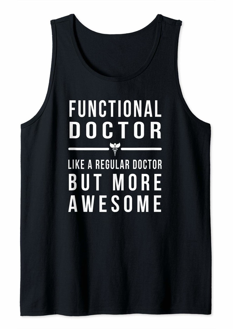 Alternative Apparel Functional Doctor - Like a Regular Doctor But More Awesome Tank Top