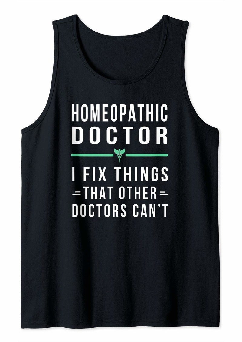 Alternative Apparel Funny Homeopathic Doctor Gift - I Fix Things Tank Top