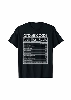 Alternative Apparel Osteopathic Doctor Nutrition Facts T Shirt