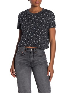 Alternative Apparel Printed Cropped Knit T-Shirt
