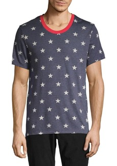 Alternative Apparel Star-Print Drop Neck Tee
