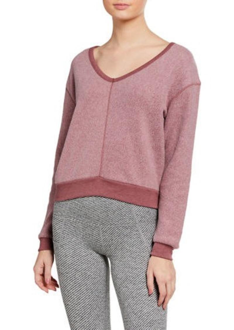 Alternative Apparel Teddy Slouch V-Neck Pullover