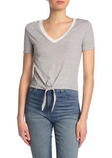 Alternative Apparel V-Neck Tie Front T-Shirt