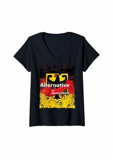 Alternative Apparel Womens Afd Alternative Fur Deutschland T Shirt  V-Neck T-Shirt