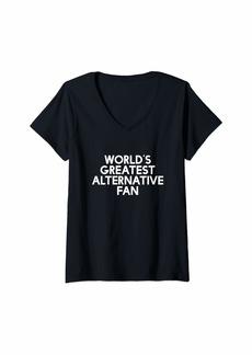 Alternative Apparel Womens Worlds Greatest alternative Fan - Fan V-Neck T-Shirt