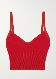 Altuzarra Ada Cropped Ribbed Stretch-knit Top