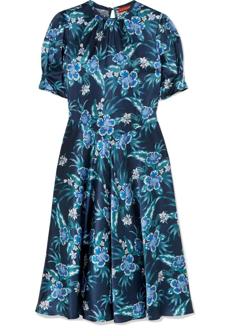 Altuzarra Adeline Floral-print Stretch-silk Satin Midi Dress