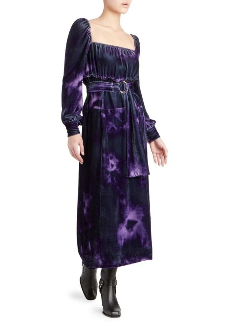 Adrienne Velvet Tie Dye Dress Altuzarra