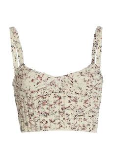 Altuzarra - Women's Sim Floral Silk Bralette Top - Floral - Moda Operandi