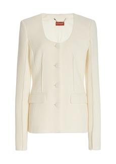 Altuzarra - Women's Tamaar Wool Scoop-Neck Blazer - White - Moda Operandi