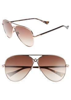 Altuzarra 60mm Metal Aviator Sunglasses