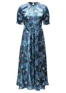 Altuzarra Adeline floral silk-blend charmeuse midi dress