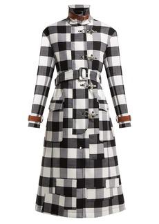 Altuzarra Agrippina checked belted wool-blend coat